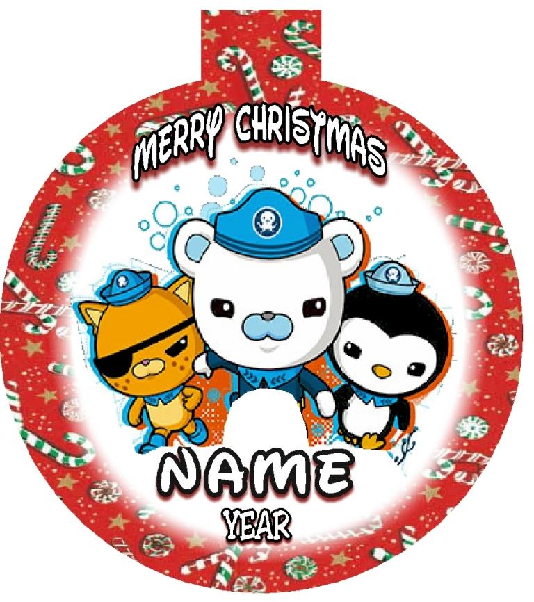 OCTONAUTS Christmas Ornament Personalized WITH ANY NAME - OCTONAUTS Personalized Christmas Ornament Any Name/Message FREE Ship