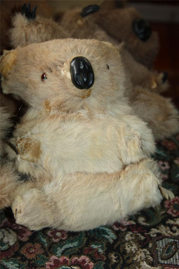 KOALA 22 cm kangaroo fur vintage toy koala Bear poor old ...