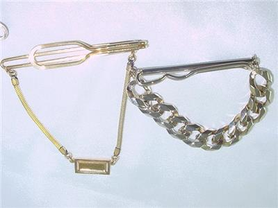 Vintage Forstner Gold Fill Tie Clasp with Chain