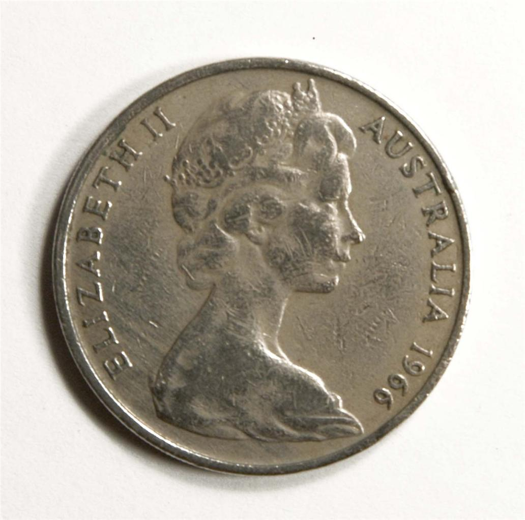 1966 australian 20 cent coin worth