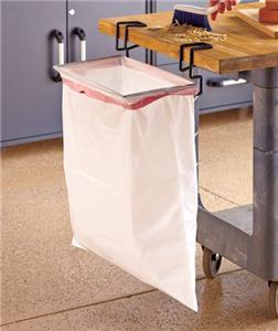 trash ease 13 gallon bag holder outdoor travel portable trash bag clamp no can ebay. Black Bedroom Furniture Sets. Home Design Ideas
