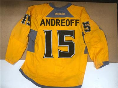 new style e8b04 e2ec9 Details about ANDY ANDREOFF LA KINGS SIGNED WARM-UP JERSEY AUTOGRAPH AUTO  LA KINGS COA