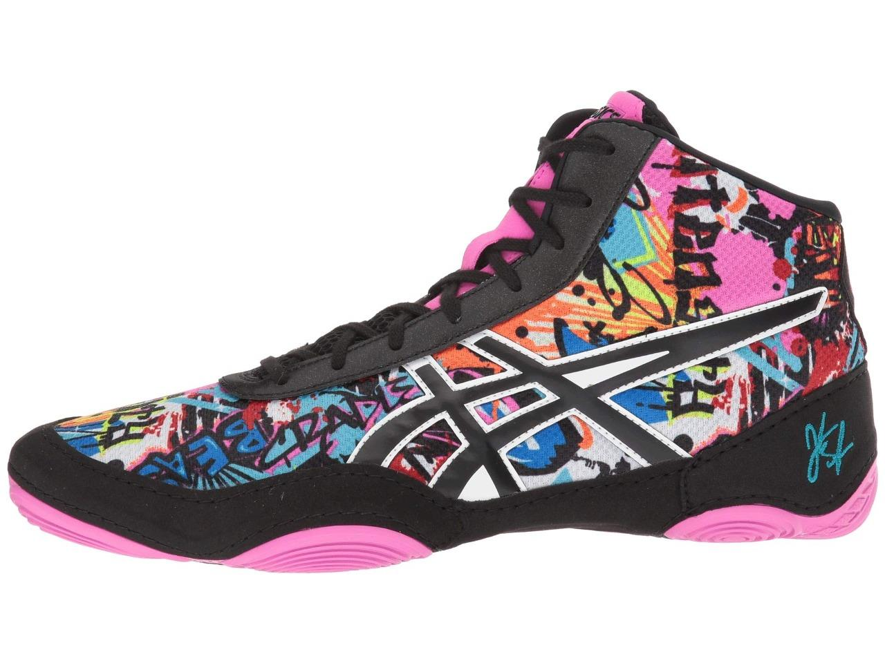 Details about Asics JB Elite V2.0 Wrestling Shoes Men's Size 8 12 Cosmic Graffiti J501Q Last 1