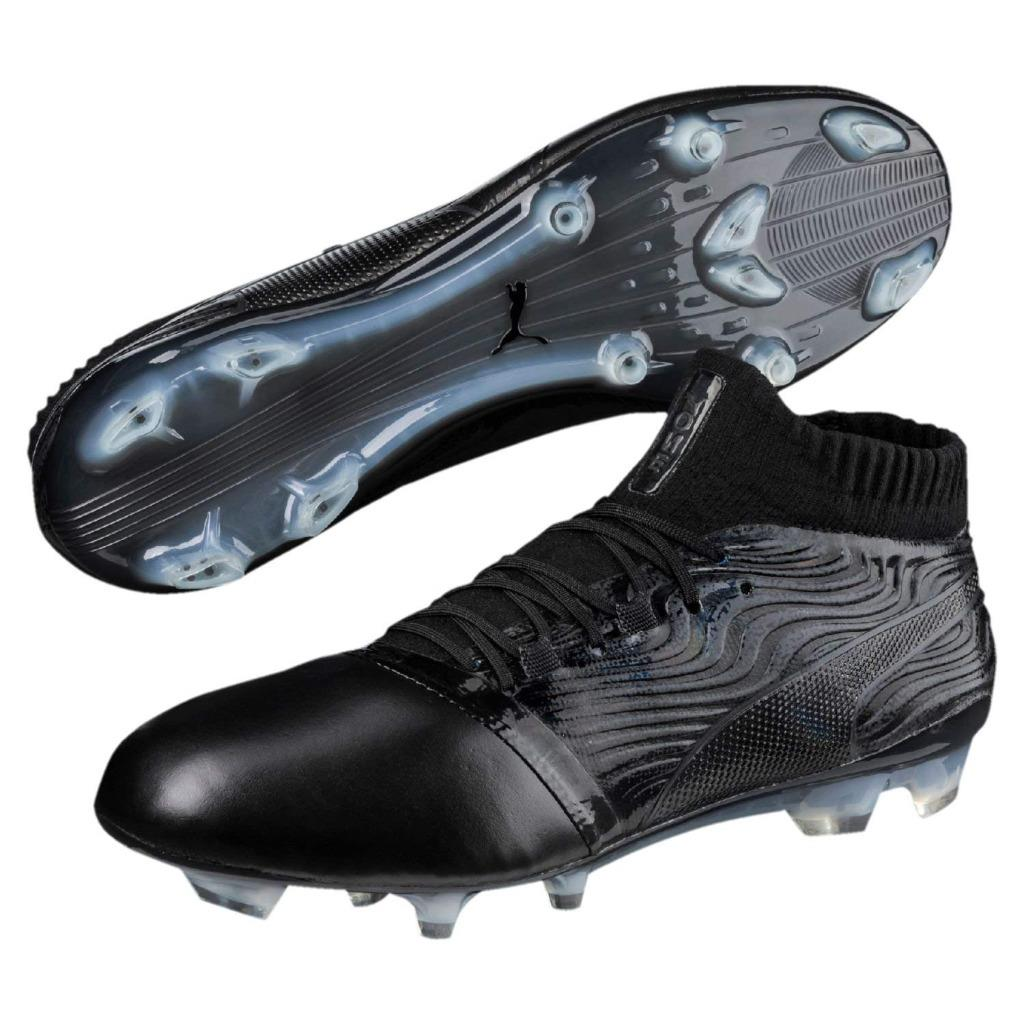 New Men s Puma ONE 18.1 FG Soccer Cleats Size 7-14 Black or Green ... ff19050663c0e