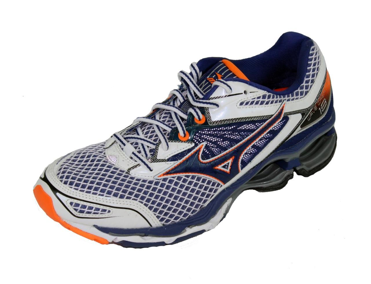 New Men s Mizuno Wave Creation 18 Running Shoes Size 9 White Blue ... 819221a25f543
