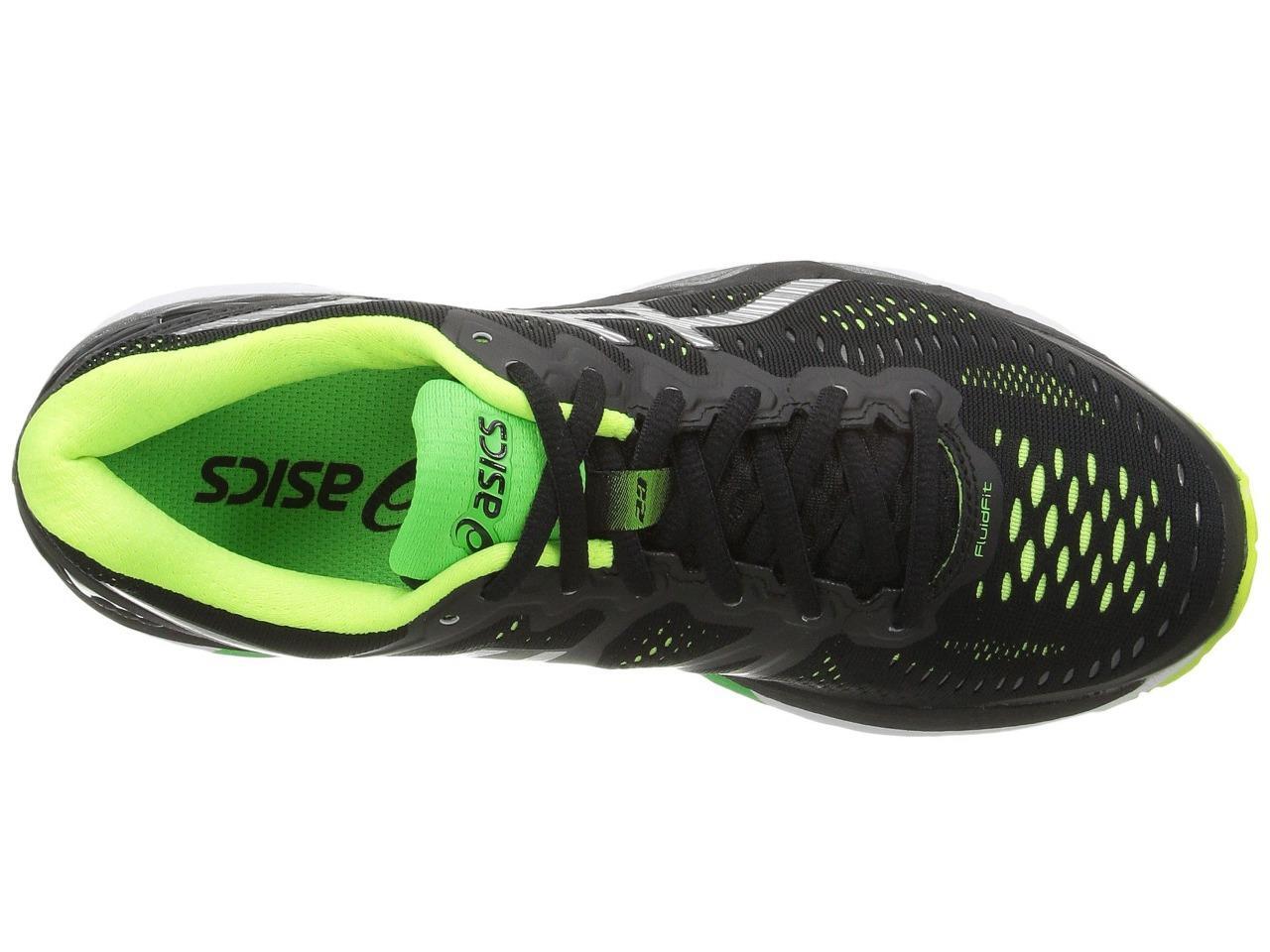 New ASICS Gel Kayano 23 Running Shoes Men s Size 16 Black Silver ... 7eea6696332e4