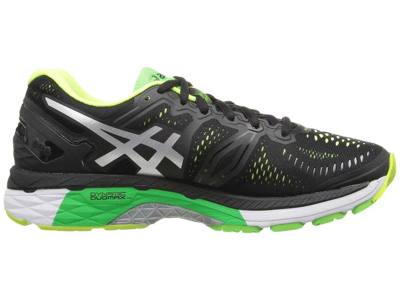 New ASICS Gel Kayano 23 Running Shoes Men s Size 16 Black Silver T646N-9093 f42fb3a426665