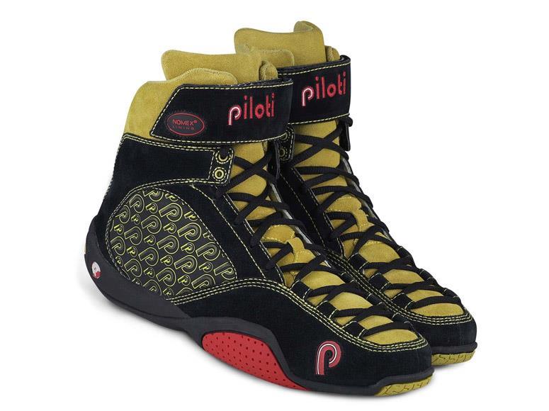 New Men/'s Piloti LMP Hi-Cut Driving Suede Leather Boots Shoes Size 7-15 FIA SFI