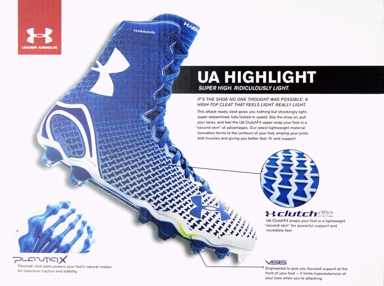 New Under Armour UA Team Spine Highlight MC Football Cleats Men/'s Size 14 Camo
