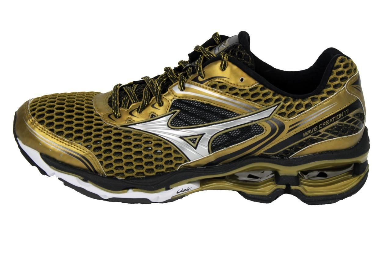 91d8a28c4a4 New Men s Mizuno Wave Creation 17 Running Shoes Size 9 Gold ...