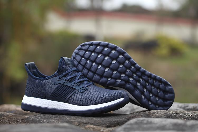 0e040ead0a468 New Men s Adidas Pure Boost ZG Running Shoes Size 8-13 Navy White ...