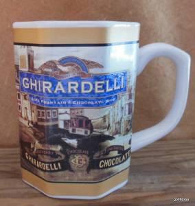 Vintage Mug Ghirardelli Chocolate 4 Quot Eight Sides Ebay