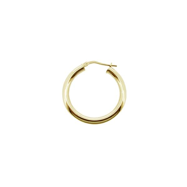 9ct Gold Plated On Sterling Silver Small Medium Large 3mm