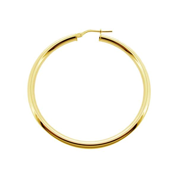 9ct Gold Plated Small To Large Polished 3mm Hoop Sleeper