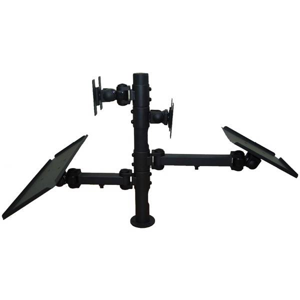 Pos Back To Back Lcd Led Monitor Mount Stand W Keyboard