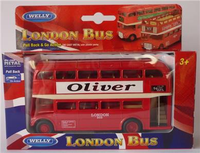 personalised name gift red london diecast double decker. Black Bedroom Furniture Sets. Home Design Ideas