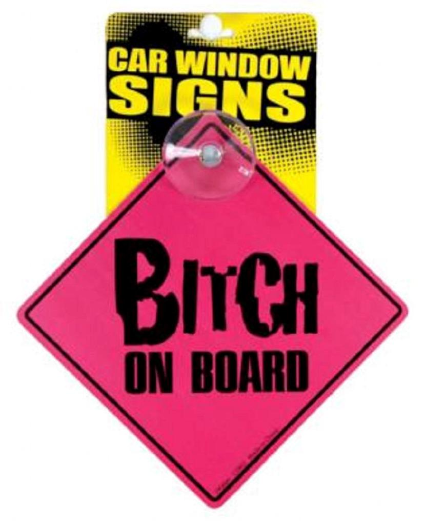 Funny Window Signs With Suction Cup, Use On Car Wall