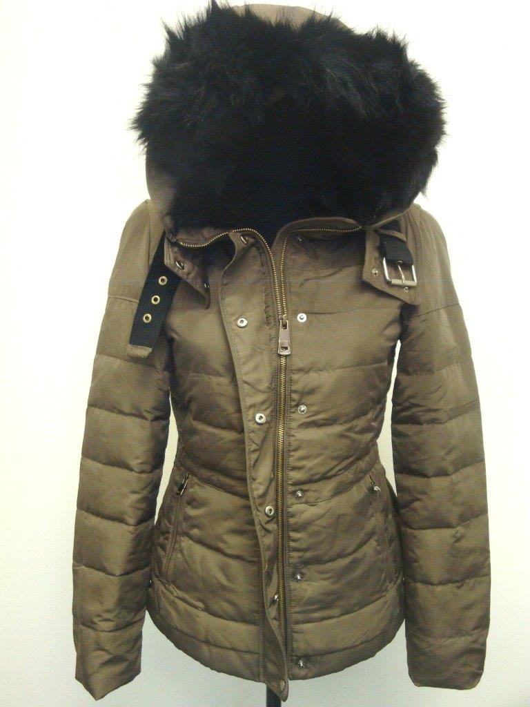 Zara Fur Trim Hood Quilted Padded Duck Down Feather Puffer