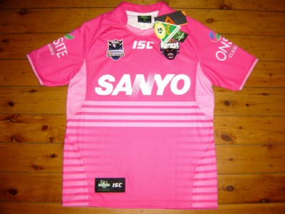 size 40 50e6b e92b8 Penrith Panthers 2011 Pink 1 ISC NRL Rugby Shirt Jersey