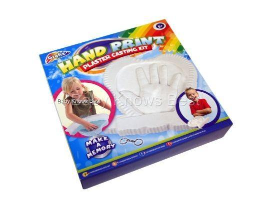 Baby Kids Handprint Or Footprint Plaster Casting Kit Ebay