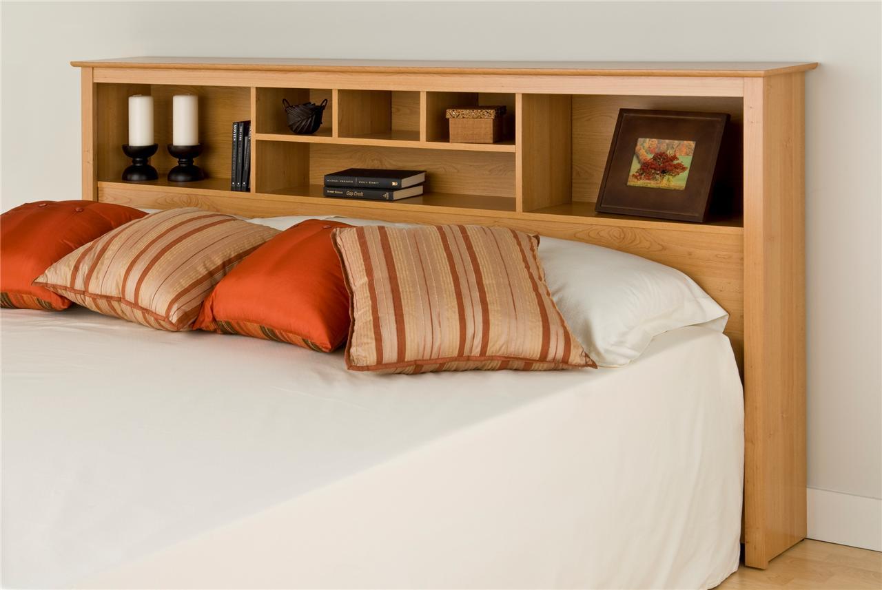 Cal King Bookcase Headboard: King Headboard Bookcase Sonoma Maple Light Brown Wood