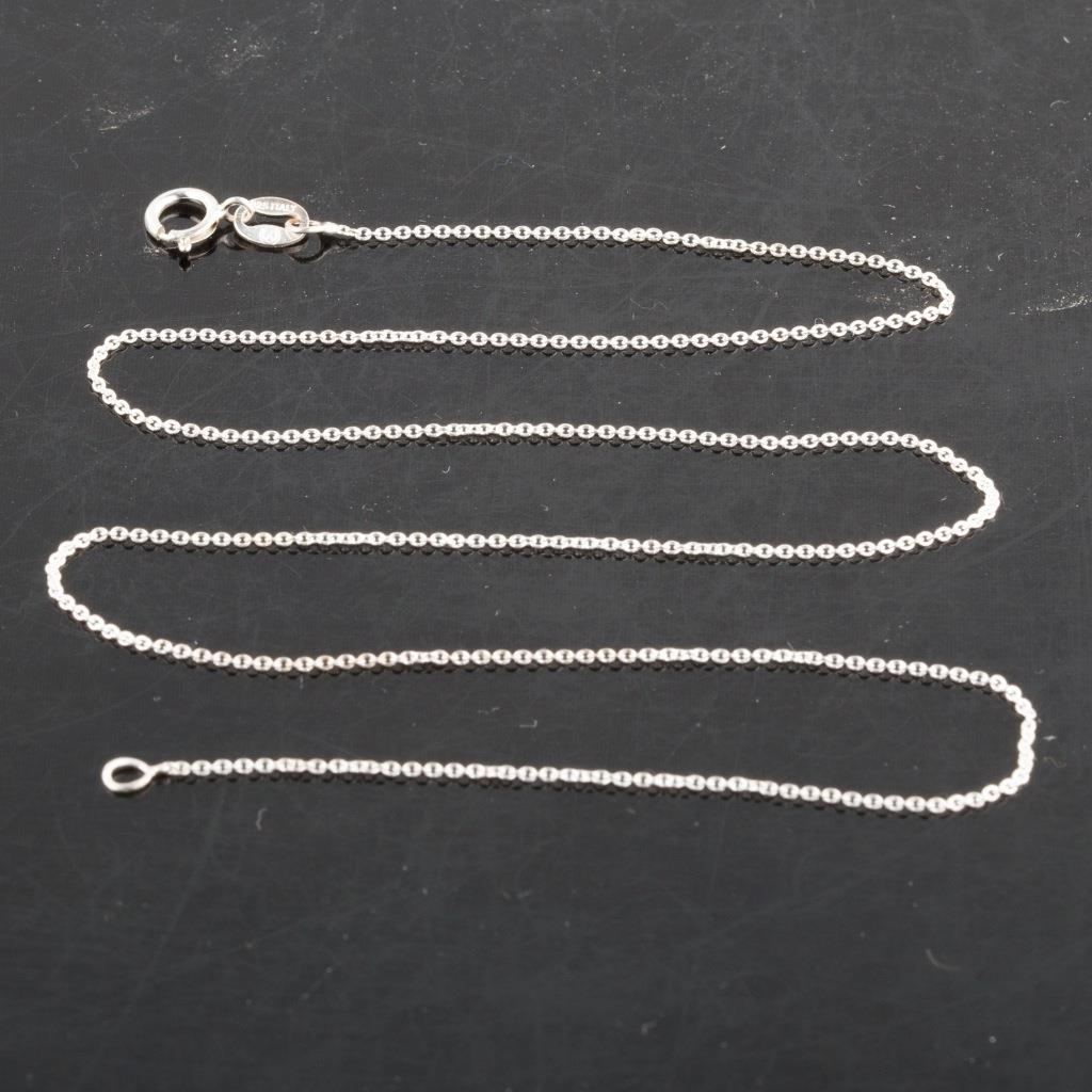 925 Sterling Silver Rolo Chain Necklace 925 Italy 16
