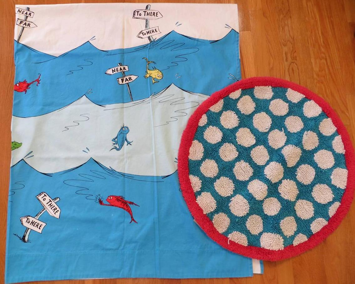 Pottery Barn Kids Dr Seuss One Fish Two Fish Shower