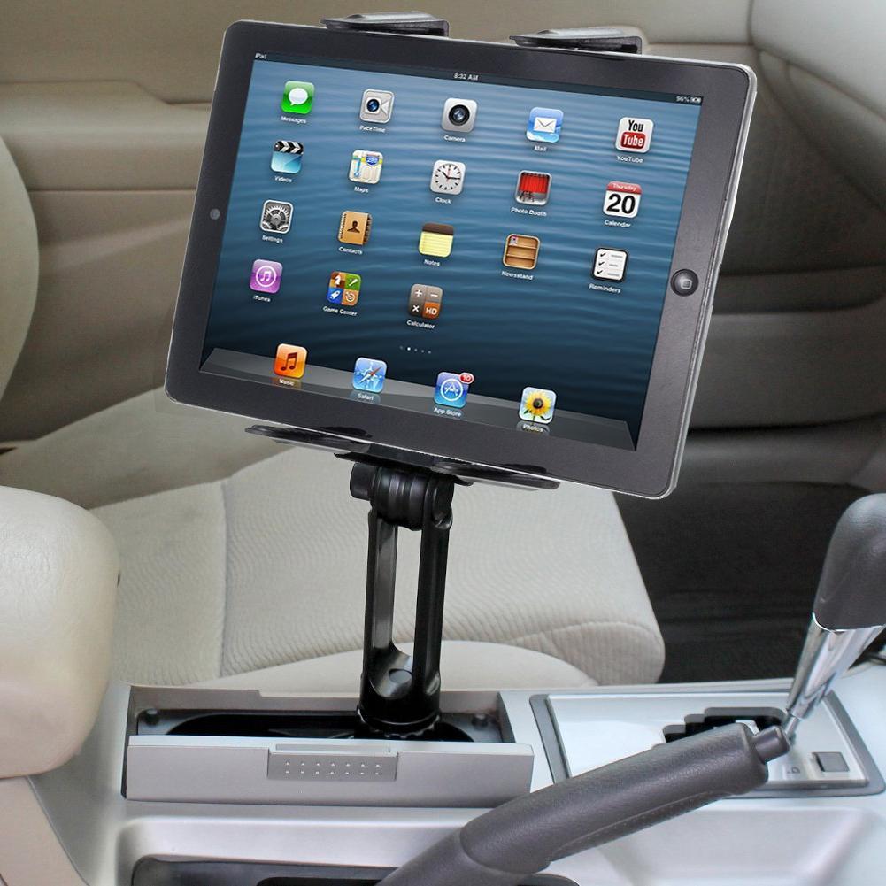 long arm car cup holder mount for apple ipad air pro 12 9 surface tablet ebay. Black Bedroom Furniture Sets. Home Design Ideas