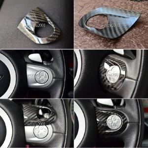Carbon fiber 2pcs Mini cooper JCW steering wheel cover