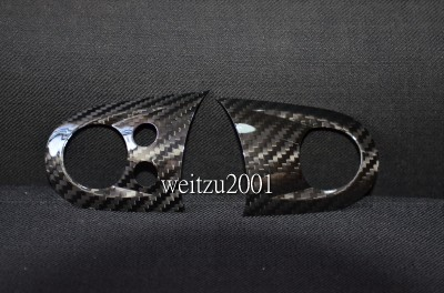 Carbon fiber 2pcs Mini cooper JCW steering wheel cover