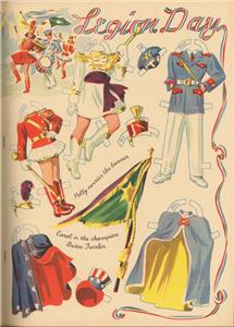 VINTGE UNCUT 1940S DRUM MAJOR PAPER DOLLS ~HD LASER REPRODUCTION~LO PRICE~HI Q