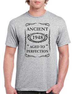 21st 30th 40th 50th 60th 70th 80th Unisex Funny Birthday T Shirt Ancient Aged To