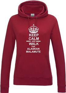 Keep Calm /& Walk The Alaskan Malamute Dog Hoody Hoodie Hooded Sweatshirt