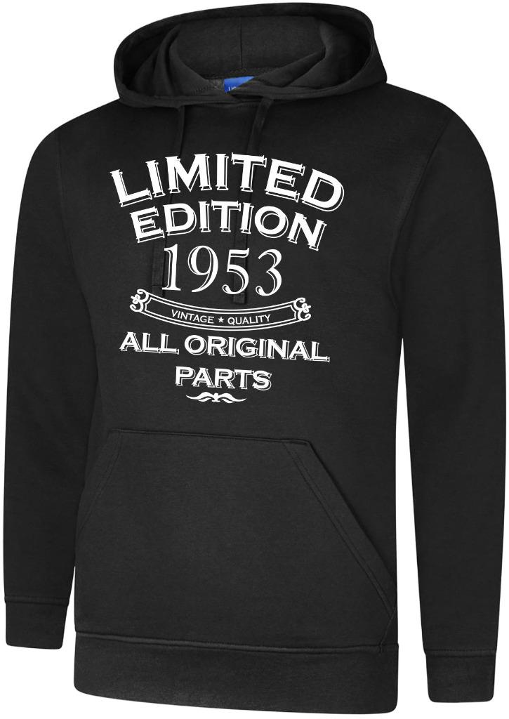 65th Birthday Gift Present Year 1953 Mens Hoody Limited All Original