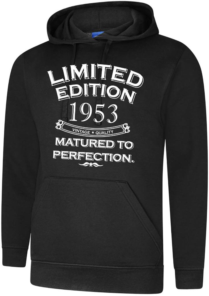 65th Birthday Gift Present Year 1953 Mens Hoody