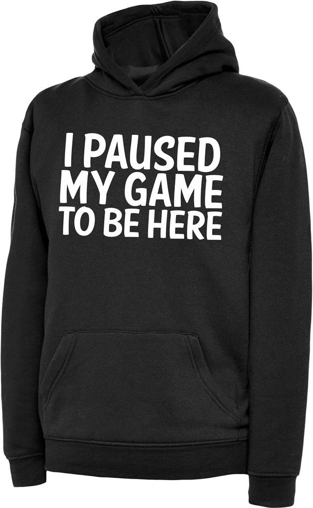 thumbnail 2 - I Paused My Game To Be Here Kids Boys Girls Childrens Gaming Gamers Hoody Hoodie
