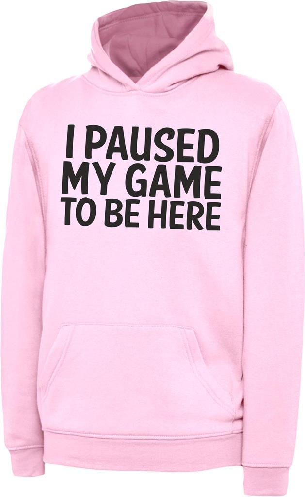 thumbnail 8 - I Paused My Game To Be Here Kids Boys Girls Childrens Gaming Gamers Hoody Hoodie