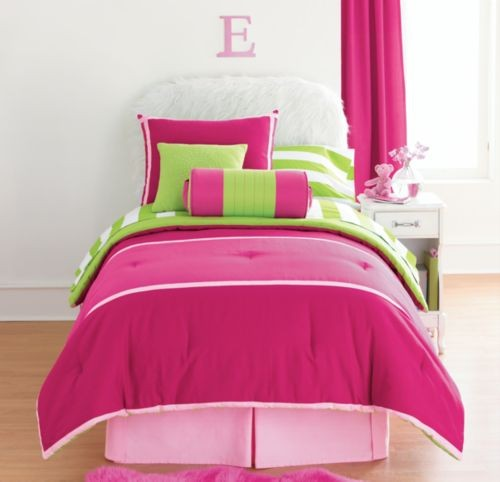 Lime Green And Pink Bedding