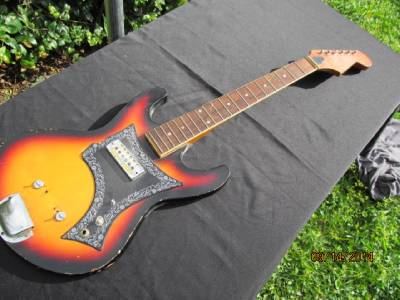 vintage harmony electric guitar parts project gold foil pickup ebay. Black Bedroom Furniture Sets. Home Design Ideas