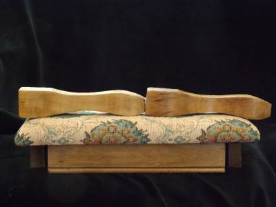 Nib Vintage Powell Furniture Pink Green Wooden Stool Bench Never Assembled Antiques 1900-1950