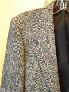Harris Tweed Brown Grey Herringbone Tweed Wool Sport