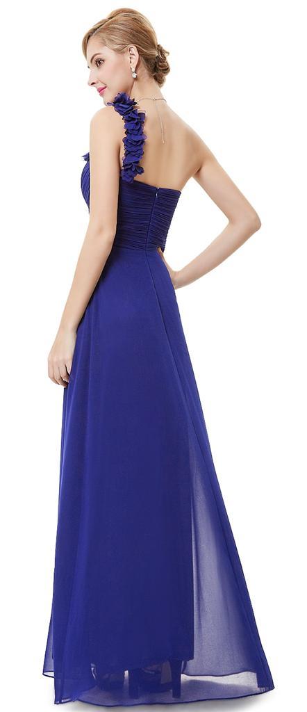 BNWT ELODIE Cobalt Blue Corsage Chiffon Prom Evening ...