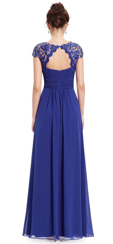KATIE Cobalt Blue Lace Maxi Prom Evening Cruise Ballgown ...