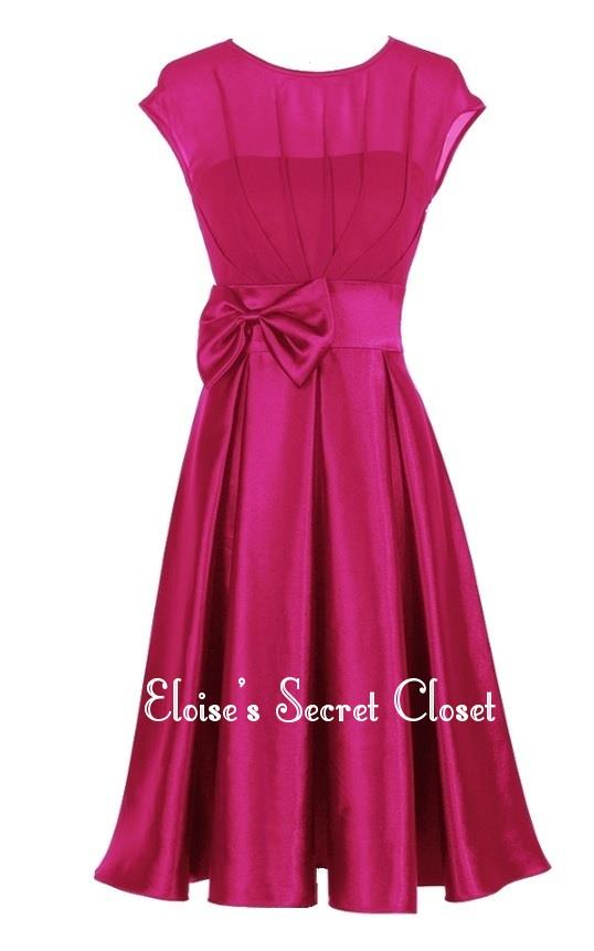 Hepburn Hot Pink 50 S Vintage Inspired Party Evening