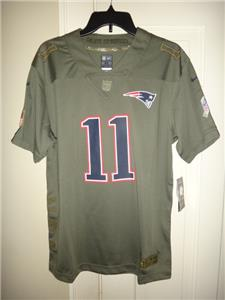 hot sale online 8fe04 5b660 Details about Nike Julian Edelman New England Patriots Salute to Service  Game Jersey Youth XL