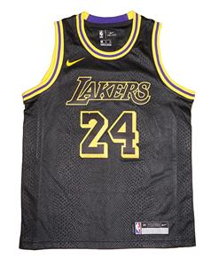 timeless design d569f 9f0f6 Details about Youth Nike Los Angeles Lakers #24 Kobe Bryant City Edition  Black Swingman Jersey