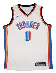 2186f1326d9 Youth Nike OKC Thunder #0 Russell Westbrook White Swingman Jersey -  Association Edition