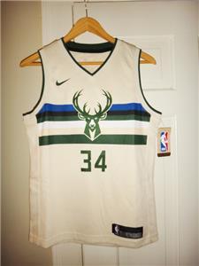 3f79366e3 Youth Nike Giannis Antetokounmpo Milwaukee Bucks City Edition Cream  Swingman Jersey