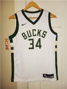 49830a43d Youth Nike Giannis Antetokounmpo  34 Milwaukee Bucks White Swingman Jersey