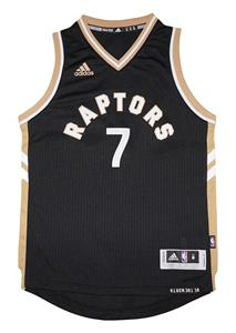 95e4213b5f9 Youth Kyle Lowry #7 Toronto Raptors NBA Adidas Black/Gold Swingman Jersey